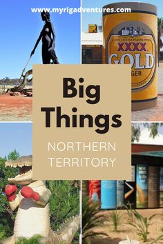 We've put together this list of over 20 'Big Things' in the Northern Territory, Australia. Included is a printable checklist with locations and addresses. Big XXXX Can, Big Aboriginals, Big Books, Big Boxing Crocodile. #bigthings #australia #list #northernterritory Travel Info, Travel Tips, Travel Hacks, Kakadu National Park, Australia Travel Guide, New Zealand Travel, Canada Travel, Trip Planning, Travel Inspiration