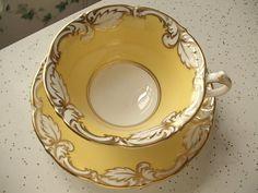 Paragon yellow tea cup and saucer set