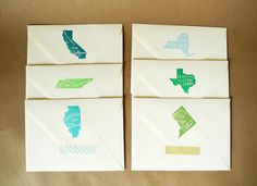 The Original Greetings From State Stamp | Paper Pastries