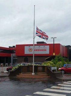 "As a mark of respect for the 19 fallen firefighters in Arizona, the Scottish Fire and Rescue Service will fly the Union Flag at half mast until sunset today.    Our thoughts are with the family, friends and colleagues of those who have tragically lost their lives."" Photo SFRS Facebook Flags At Half Mast, Granite Mountain Hotshots, Union Flags, Unsung Hero, Firefighting, Above And Beyond, Life Photo, Respect"