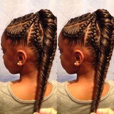 Fishtail Braid Kids Hairstyle - http://www.blackhairinformation.com/community/hairstyle-gallery/braids-twists/fishtail-braid-kids-hairstyle/ #kidshair #fishtailbraid #braids