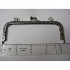 Fecho Metal Prateado recto Trabalhado 21 cm