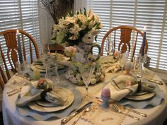 images valentine tablescapes   Tablescapes By Diane~: 2011 Easter Tablescape.