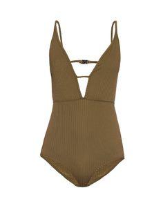 ZIMMERMANN Lotte High Tri V-Neck Swimsuit. #zimmermann #cloth #swimsuit