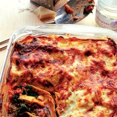Spinach and aubergine lasagne - Good Housekeeping