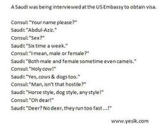 Interview gone wrong.