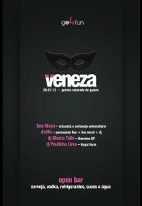 Chega com tudo a 3a edição da festa à fantasia VENEZA 2013, prometendo para esse ano ser o maior evento do gênero na região!