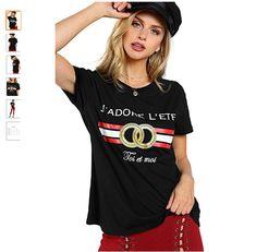 WDIRA Women s Summer Short Sleeve Cute Graphic Tee Shirt Top  9.99 Marina  Laswick 2ac96be1d
