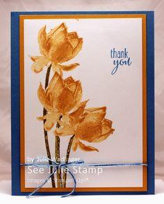 Lotus Blossom See Julie Stamp - Julie Wadlinger, Stampin' Up! Demonstrator : Blog Hop: Sale-A-Bration!
