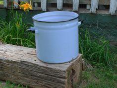 Enamelware Pot Blue Vintage Extra Large by territoryhardgoods, $48.00