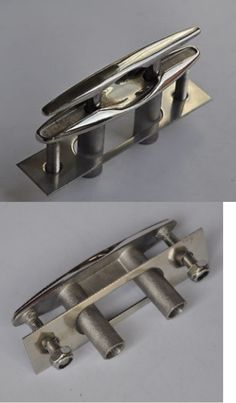 6/'/' 316 STAINLESS STEEL PULL-UP CLEAT// POP-UP FLUSH MOUNT LIFT Boat//Marine