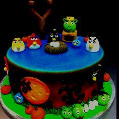 Angry Birds Halloween Cake.