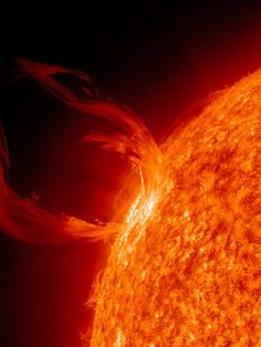 Don't forget the sun, she's part of the solar system too. Eruption on the Sun :Every 10 second the atmospheric imaging assembly (AIA) of NASA's Solar Dynamics Observatory takes hi res photos of the cun's corona. This photo was taken on