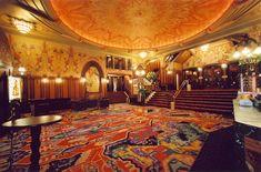 Downstairs foyer of Tuschinski movie theatre, Amsterdam, The Netherlands. An Amsterdam School, Jugendstil, Art Nouveau and Art Deco movie theater (1921)