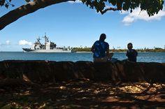 USS Port Royal departs Pearl Habor-Hickam