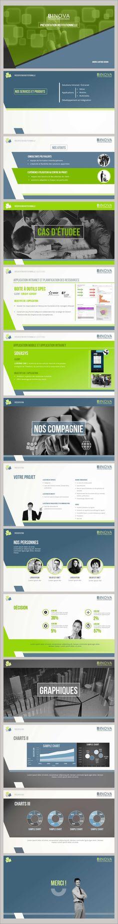 BINOVA | Service Informatique | PPT presentation Design