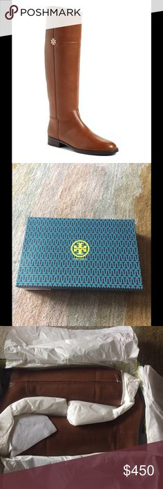 Tory Burch Jolie Riding Boots Rustic brown, never taken out of packaging. Tory Burch Shoes