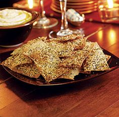Seeded Crackers - Recipe - FineCooking - - The dough can be refrigerated for two days or frozen for up to a month, and then thawed for two hours at room temperature. Seed Crackers Recipe, Salt Crackers, Cracker Recipe, Wine Recipes, Snack Recipes, Cooking Recipes, Snacks, Cooking Pasta, Healthy Cooking