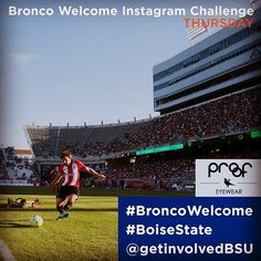 Thursday 8/27: #ThrowbackThursday to Summer.  We love summer! What was your favorite summer memory? Share your sweetest summer moment and be entered to win a pair of @proofeyewear Sunglasses!  Enter the #BroncoWelcome @getinvolvedBSU Instagram Challenge! Each day this week well have a new theme and prizes for the winner. All submissions shared on Instagram by 9pm each day are eligible for a random drawing to win. Include #BroncoWelcome #BoiseState and tag @getinvolvedBSU to enter.