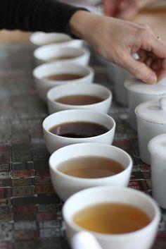 Tea tasting.