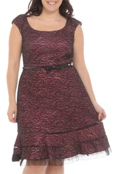 RM Richards Bond Beauty Dress in Fuchsia and Black - Beyond the Rack