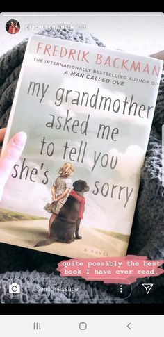 My grandmother asked me to tell you she's sorry. - My grandmother asked me to tell you she's sorry.