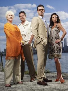 Burn Notice Promovt Cast 4 poster Metal Sign Wall Art 8in x 12in