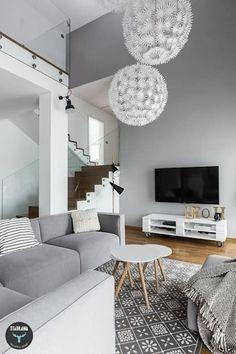 Dom w Bochni Interior Exterior, Interior Architecture, White Apartment, Bright Homes, Indian Homes, Bathroom Trends, Small Space Gardening, Beautiful Space, Home Staging