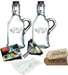 Wine Making Kilner 13 Piece Glassware Infused Gin Set Gin Sloe #Kilner