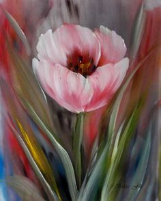 Original oil painting on canvas by Vladimir Nezdiymynoga. * This painting was made to order. Acrylic Flowers, Oil Painting Flowers, Watercolor Flowers, Painting & Drawing, Watercolor Paintings, Watercolor Artists, Painting Lessons, Abstract Paintings, Oil Paintings