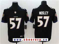 Men's Baltimore Ravens #57 C.J. Mosley Black 2017 Vapor Untouchable Stitched NFL Nike Limited Jersey