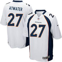 3fe7d778a62 ... mens nike denver broncos 27 steve atwater game white nfl jersey sale  colts pat mcafee
