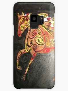 Buy 'Abstract Autumn Horse Painting' by Missy69 as a Women's Chiffon Top, iPhone Case/Skin, iPhone Wallet, Case/Skin for Samsung Galaxy, Poster, Throw Pillow, Tote Bag, Studio Pouch, Duvet Cover, Mug, Travel Mug, Art Print, Canvas Print, F...