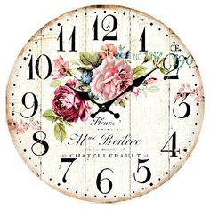 Ramadan Images, Shabby Chic Clock, Wood Clocks, Scrapbook Paper, Embellishments, Miniatures, Clock Faces, Cards, Printables