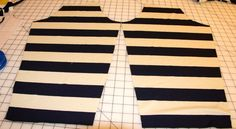 The Advantage of Single Layer Layout: Gorgeous Fabrics tutorial for single layer cutting for better matching stripes.