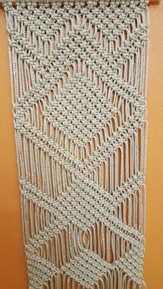 Handmade macrame wall hanging is unique panel for home decor. Sizes: width: 15.5 height 50 SHIPPING Ships in 48 HOURS after your payment and let you know the tracking number. All items will be shipped by Registered mail. You can follow your items on web with tracking number