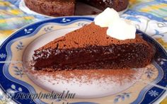 Egyszerű egyben sült csokitorta recept fotóval