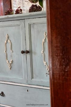 Simone (Before & After) an armoire gets a makeover for our dining room in MMS Milk Paint and Chalk Paint.