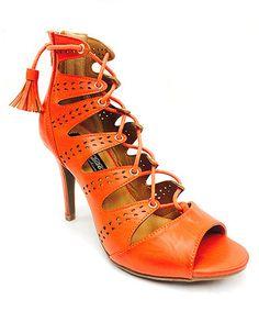 Another great find on #zulily! Orange Amanda Sandal #zulilyfinds