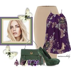 You Give Me Butterflies by autumnsbaby on Polyvore featuring Wallis, Linea, Sergio Rossi, Yves Saint Laurent, Olivia Collings Antique Jewelry, Monsoon and Burberry