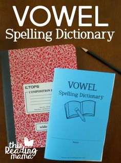 Free Vowel Spelling Dictionary - This Reading Mama Unit Spelling Word Practice, Spelling Worksheets, Spelling Patterns, Spelling Activities, Spelling Words, Free Worksheets, English Dictionary Pdf, Spelling Dictionary, Dictionary For Kids