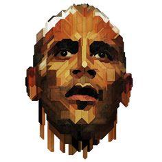 GQ Magazine - Mind Games portraits by Charles Williams, via Behance