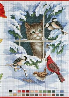 Thrilling Designing Your Own Cross Stitch Embroidery Patterns Ideas. Exhilarating Designing Your Own Cross Stitch Embroidery Patterns Ideas. Cross Stitch Bird, Beaded Cross Stitch, Cross Stitch Animals, Cross Stitch Charts, Cross Stitch Designs, Cross Stitching, Cross Stitch Patterns, Cat Embroidery, Cross Stitch Embroidery