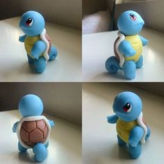 SQUIRTLE #pokemon #poke #pika #squirtle #vamoacalmarno #firstgen #gottacatchemall #clay #sculpt #clayfigures #art #mycreation #charm #charms #crafts #craft #porcelain #etsy  #porcelanicron #instageek #sculpey #cerámica  #geek #fondant #porcelana #plastilina #figure #figuras #porcelaman
