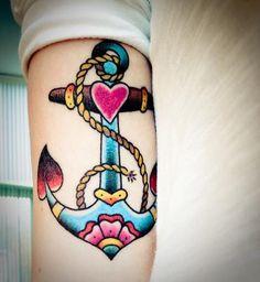 Anchor tattoo. I like the heart inside the anchor