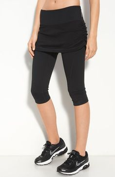 Free shipping and returns on Zella 'Play the Day Away' Skirted Capris at Nordstrom.com. Shirred side seams style the short skirt attached to slim-fitting capris for the look of two sporty pieces with the ease of one.