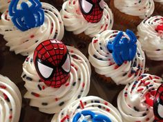 Spiderman cupcakes!