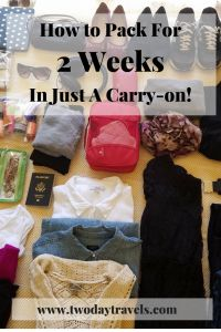 How to Pack for 2 Weeks in a Carry-On! How to Pack for 2 Weeks in a Carry-On! – Two Day Travels Carry On Packing, Packing Tips For Vacation, Packing Hacks, Packing Cubes, Travel Packing, Budget Travel, Vacation Travel, Suitcase Packing, Packing Ideas