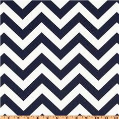 Zig-Zag stripes, in navy. Great accenting idea.
