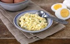 Made one egg at a time for a single serving, this yogurt-and-chive egg salad comes together in a few minutes. Home Recipes, New Recipes, Whole Food Recipes, Fresh Chives, Plain Greek Yogurt, Whole Foods Market, Egg Salad, How To Cook Eggs, Macaroni And Cheese